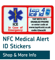 emergency ice id helmet stickers