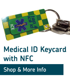 emergency medical id keyring
