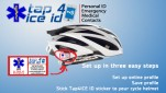 Emergency ID Stickers for Cycling