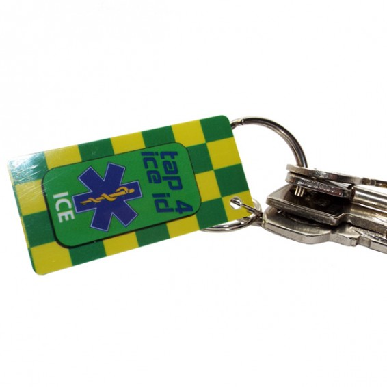 medical id mini key tag