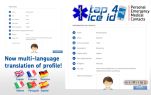 Emergency ID Translated into Six Languages